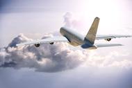 飛行機の着圧ソックスの画像