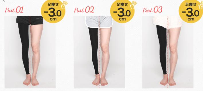 履くだけイージースリムレッグの脚痩せ効果の画像